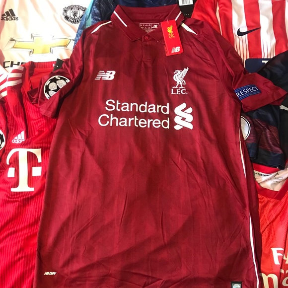 big sale 02e5a 69b44 Liverpool 2018/19 Home Champions League Jersey ! NWT